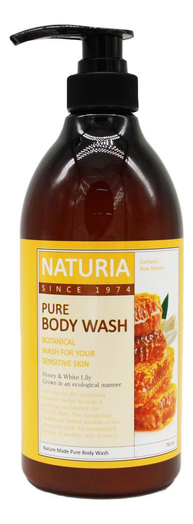 Гель для душа Мед и лилия Naturia Pure Body Wash Honey & White Lily 750мл: Гель 750мл