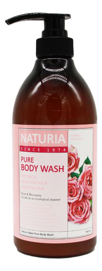 Гель для душа Роза и розмарин Naturia Pure Body Wash Rose & Rosemary 750мл: Гель 750мл