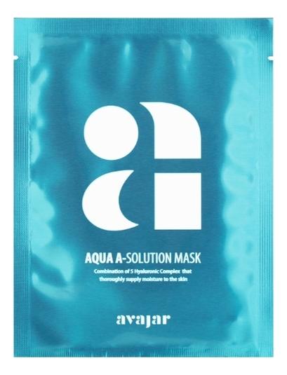 Увлажняющая тканевая маска для сухой обезвоженной кожи Aqua A-Solution Mask 10*25г guerlain super aqua mask увлажняющая маска super aqua mask увлажняющая маска