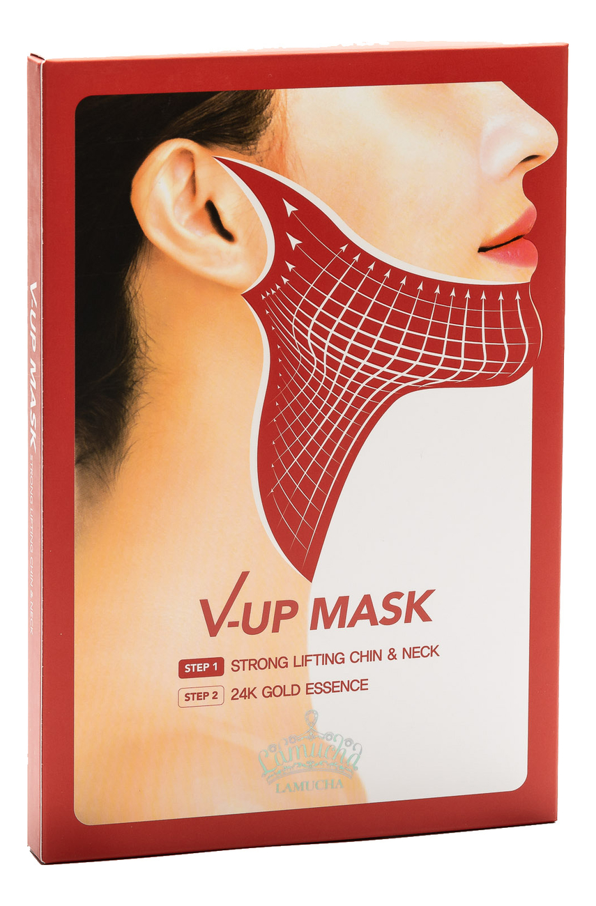 Маска для подтяжки овала лица V-UP Mask Strong Lifting Chin & Neck 3шт