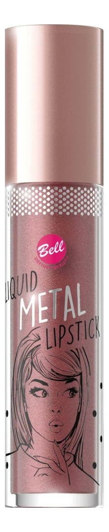Жидкая помада для губ с эффектом металлик Liquid Metal Lipstick 4мл: No 04