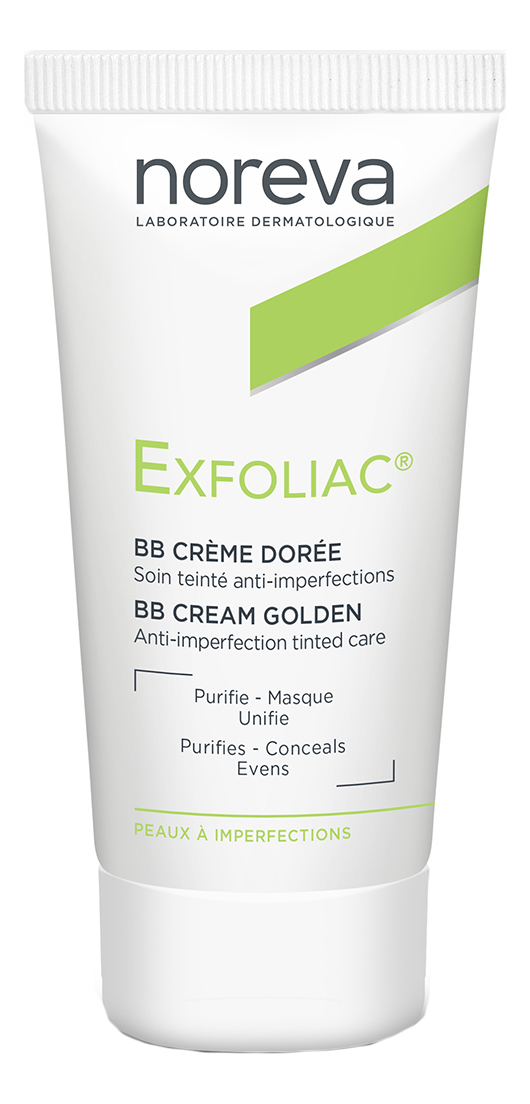 Тональный BB крем для проблемной кожи лица Exfoliac Anti-Imperfections Treatment 30мл: Golden