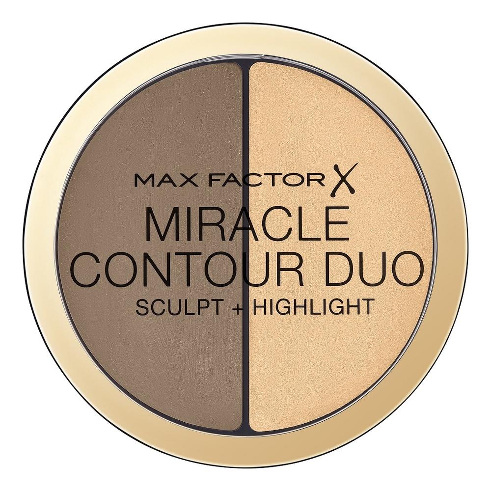 Контуринг и хайлайтер Miracle Contour Duo: Light medium хайлайтер для лица miracle glow duo 10 light