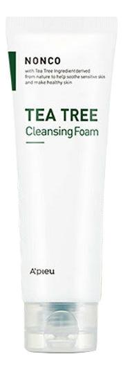 Пенка для умывания c экстрактом чайного дерева NonCo Tea Tree Cleansing Foam: Пенка 130мл пенка для умывания с экстрактом яичного белка kwailnara egg tightening cleansing foam 130г