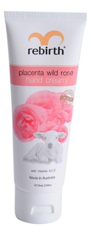 Крем для рук с экстрактом плаценты и маслом розы Placenta Wild Rose Hand Cream 75мл