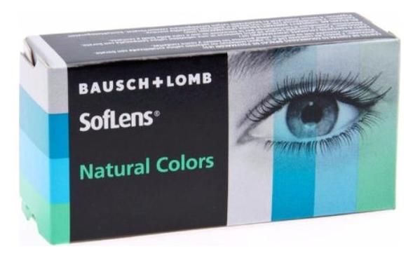 Цветные контактные линзы SofLens Natural Colors (2 блистера): оптическая сила -1,50; радиус кривизны 8,7; цвет emerald