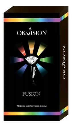 Цветные контактные линзы Fusion Colors (2 блистера): оптическая сила -14,00; цвет brown 3
