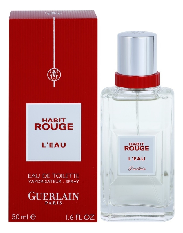 Guerlain Habit Rouge L'Eau: туалетная вода 50мл guerlain samsara туалетная вода 50мл новый дизайн