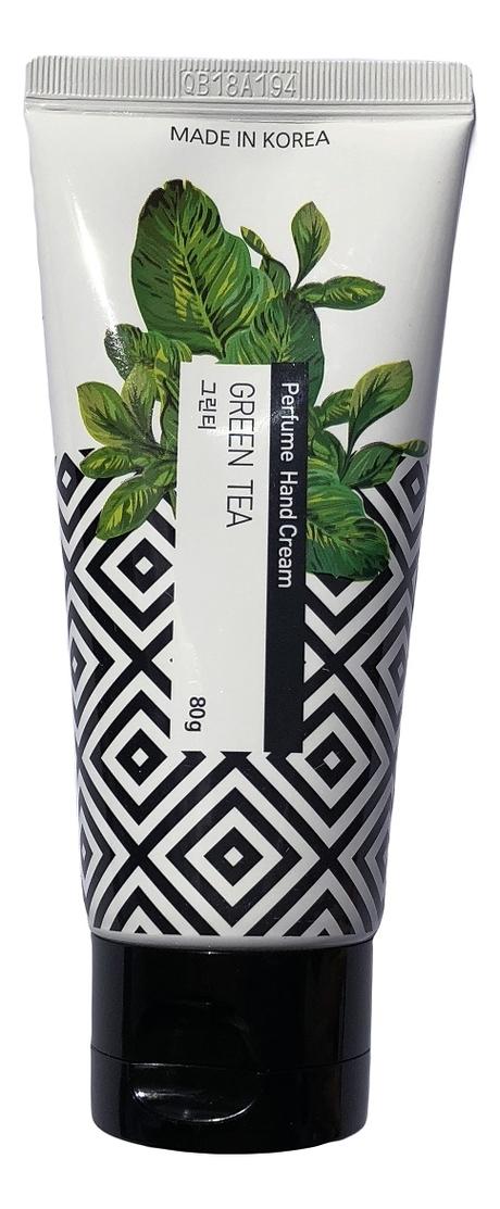 Парфюмерный крем для рук c экстрактом зеленого чая Jungnani Perfume Hand Cream Green Tea 80г