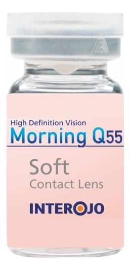 Контактные линзы Morning Q55 (1 флакон): оптическая сила -20,00; радиус кривизны 8,6 adria контактные линзы morning q 1 day 5 шт 3 00 8 6 14 2