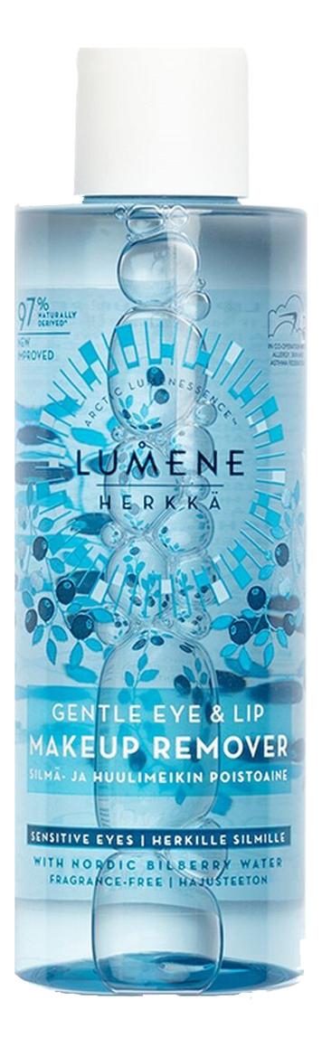 Средство для снятия макияжа с глаз и губ Herkka Gentle Eye & Lip Makeup Remover 100мл lumene бережное средство для снятия макияжа с глаз и губ 100 мл lumene herkka