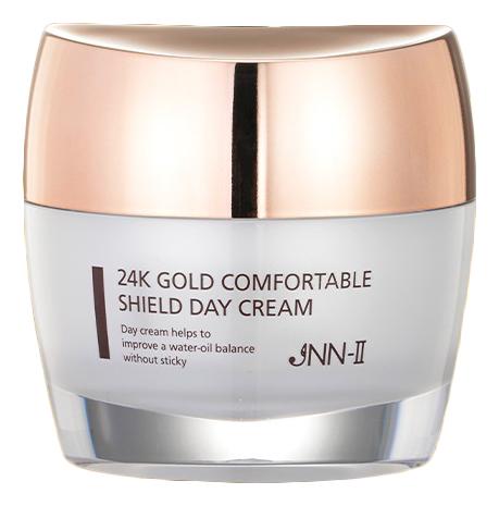 Крем для лица дневной с золотом JNN-II 24K Gold Comfortable Shield Day Cream 100г натуротерапия skipofit golden 24k крем для лица дневной с золотом скипофит 30 мл