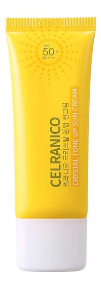 Солнцезащитный крем для выравнивания тона лица Crystal Tone Up Sun Cream SPF50 Pa+++ 40мл крем для лица madecassoside blue tone up cream spf50 pa 50мл