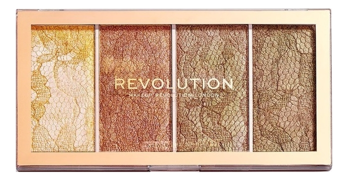 Палетка хайлайтеров для лица Vintage Lace Highlighter Palette палетка хайлайтеров для лица light in a box highlighter palette 15г 010 it s glow time
