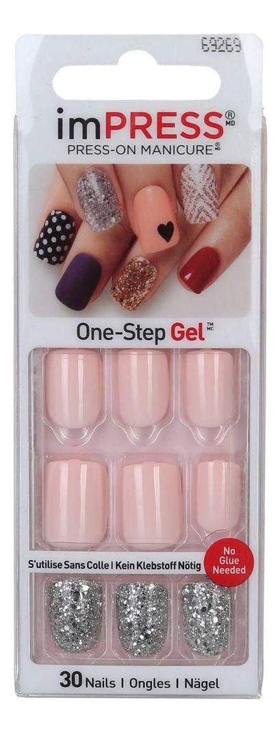 Накладные ногти Розовая мгла Impress Manicure Accent BIPA012C 30шт (длина короткая)