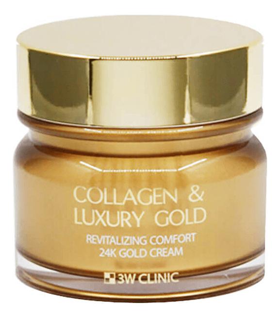 Омолаживающий крем для лица с коллагеном и коллоидным золотом Collagen & Luxury Gold Cream 100г tete cosmeceutical омолаживающий крем с коллоидным золотом и гиалуроновой кислотой 50 мл