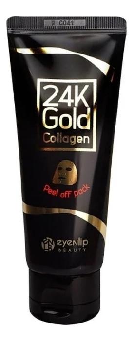 Очищающая маска-пленка для лица с золотом 24K Gold Collagen Peel Off 100г пленка