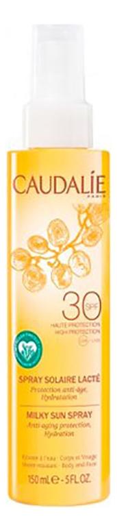 Солнцезащитное молочко-спрей для лица и тела Spray Solaire Lacte SPF30 150мл спрей для тела caudalie caudalie ca104lwiw467
