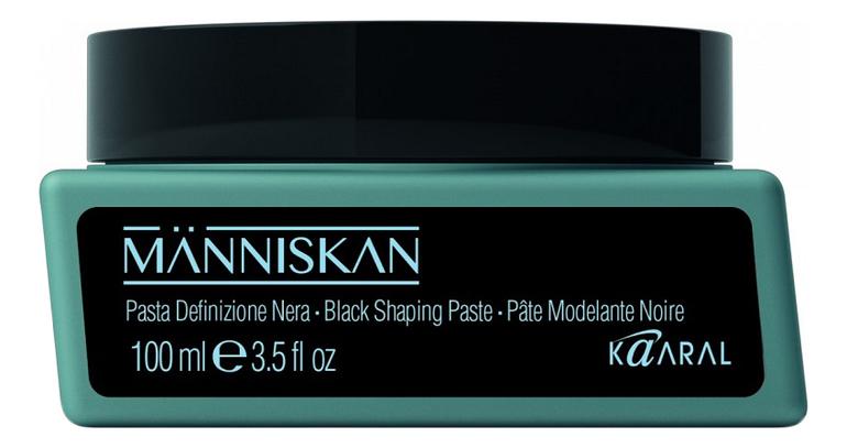 Черная моделирующая паста для волос Manniskan Black Shaping Paste 100мл