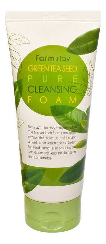 Пенка для умывания с экстрактом зеленого чая Green Tea Seed Pure Cleansing Foam 180мл очищающая пенка для лица с экстрактом зеленого чая natural cleansing foam green tea 100мл