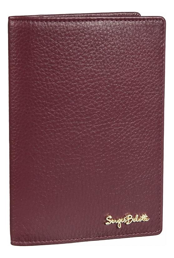 Обложка для паспорта Verona plum 04-0701
