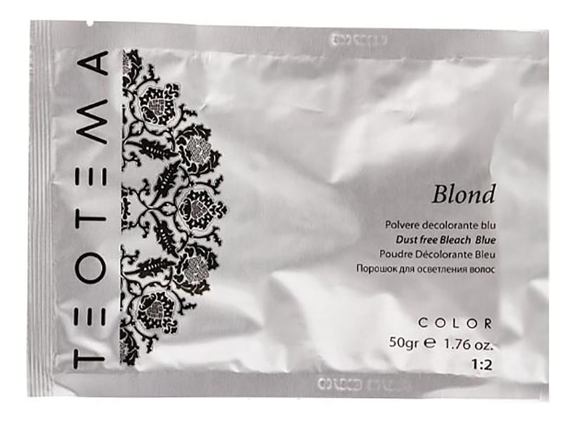 Порошок для осветления волос Color Blond Dust Free Bleach (голубой): Порошок 50г
