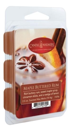 Наполнитель для воскоплавов Ром с кленовым сиропом Maple Buttered Rum Wax Melts 70,9г наполнитель для воскоплавов serene woods wax melts 70 9г