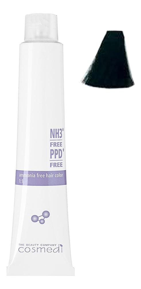 Стойкая безаммиачная крем-краска для волос Color Cosmedi 100мл: 1 Черный стойкая безаммиачная крем краска для волос color cosmedi 100мл 1 черный