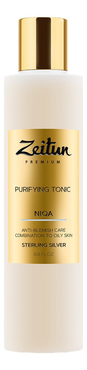 Тоник для лица против несовершенств с серебром Niqa Purifying Tonic 200мл zeitun преображающий масляный эликсир niqa для проблемной кожи лица с серебром 30 мл