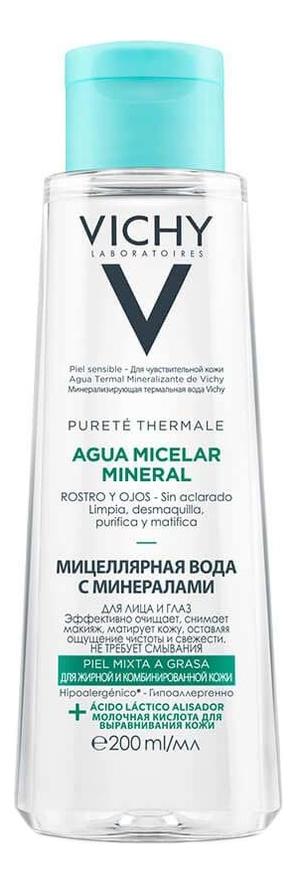 Мицеллярная вода с минералами Purete Thermale Aqua Micellar Mineral: Вода 200мл