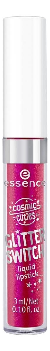 Жидкая помада для губ Cosmic Cuties Glitter 3мл: 02 Dazzling Pink