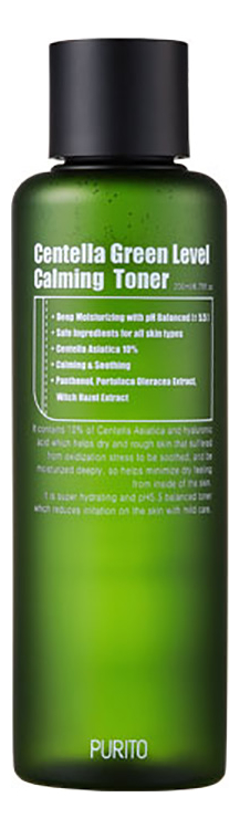 Успокаивающий тонер для лица Centella Green Level Calming Toner 200мл успокаивающий тонер для лица ac collection calming liquid intensive 125мл