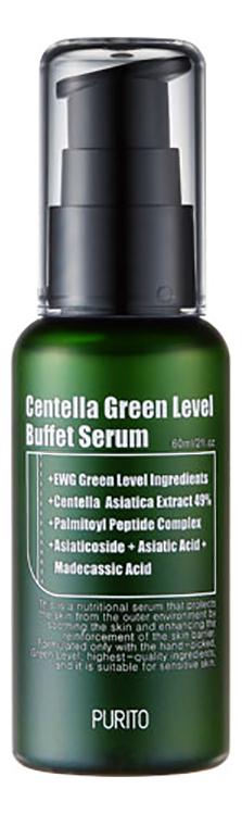 Увлажняющая сыворотка для восстановления кожи лица Centella Green Level Buffet Serum 60мл purito бесспиртовой успокаивающий тонер для лица с центеллой азиатской centella green level calming toner 200 мл