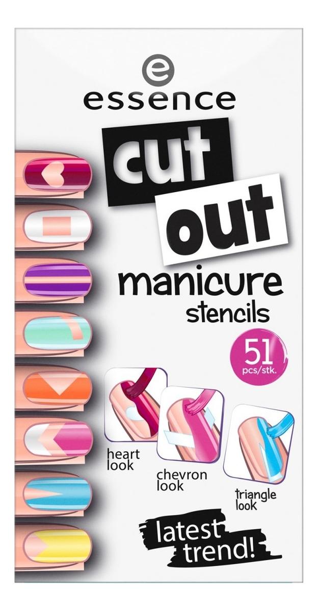 Фото - Наклейки для ногтей Cut Out Manicure Stencils sexy v neck long sleeve cut out spliced t shirt for women