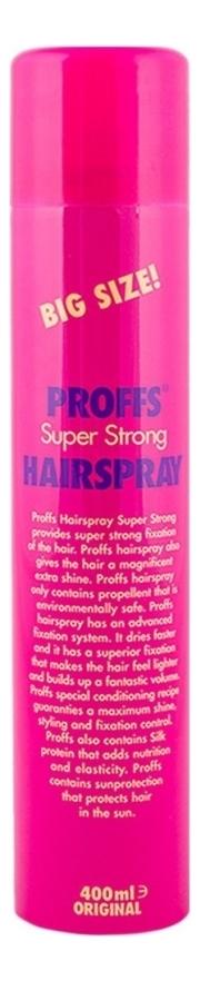 Лак для волос Super Strong Hair Spray: Лак 400мл лак для волос extra control fragrance free hair spray 400мл