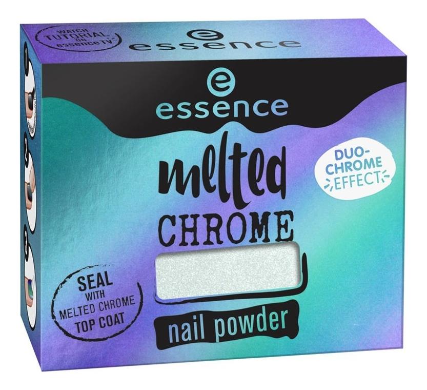Пудра-втирка для ногтей Melted Chrome Nail Powder 1г: 02 All Eyes On Me эффектная пудра для ногтей counting stars magic mirror effect nail pigment 1г 02 shine bright