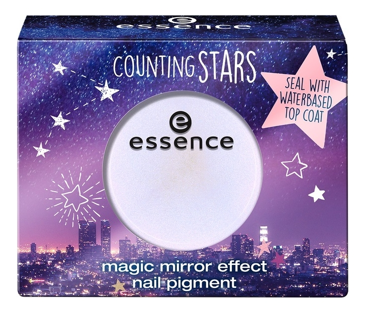 Эффектная пудра для ногтей Counting Stars Magic Mirror Effect Nail Pigment 1г: 01 A Sky Full Of Stars эффектная пудра для ногтей counting stars magic mirror effect nail pigment 1г 02 shine bright