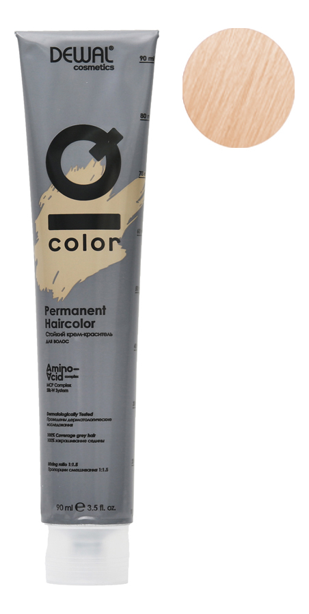 Стойкий крем-краситель для волос на основе протеинов риса и шелка Cosmetics IQ Color Permanent Haircolor 90мл: 11.SS Extra... другое заглушка вентиляционная sawo 634 p диаметр 125 мм