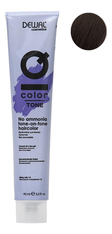 Краситель для волос Тон-в-тон с кокосовым маслом без аммиака Cosmetics IQ Color Tone Haircolor 90мл: 3 Dark Brunette кремовый окислитель с кокосовым маслом cosmetics iq color oxi 3% окислитель 1000мл