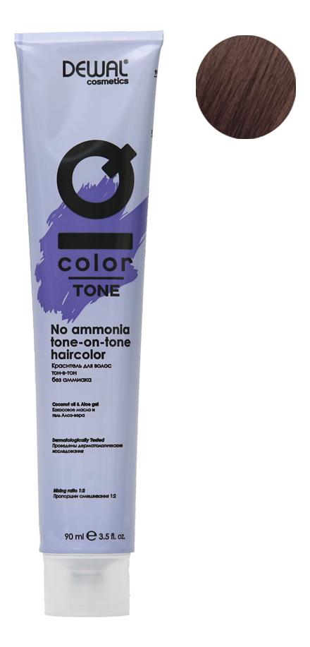 Краситель для волос Тон-в-тон с кокосовым маслом без аммиака Cosmetics IQ Color Tone Haircolor 90мл: 5.38 Light Gold Brown... кремовый окислитель с кокосовым маслом cosmetics iq color oxi 9