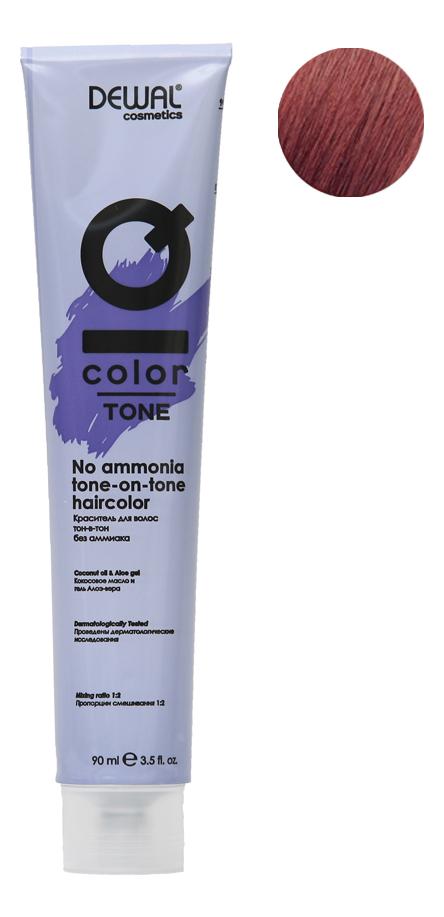 Краситель для волос Тон-в-тон с кокосовым маслом без аммиака Cosmetics IQ Color Tone Haircolor 90мл: 6.60 Dark Red Blonde кремовый окислитель с кокосовым маслом cosmetics iq color oxi 9