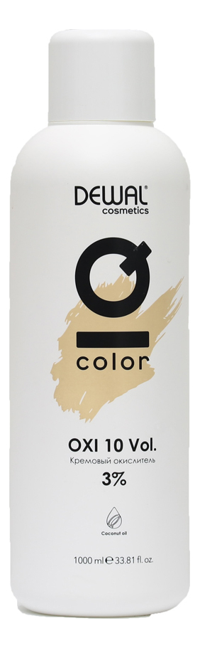 Кремовый окислитель с кокосовым маслом Cosmetics IQ Color OXI 3%: Окислитель 1000мл кремовый окислитель с кокосовым маслом cosmetics iq color oxi 9