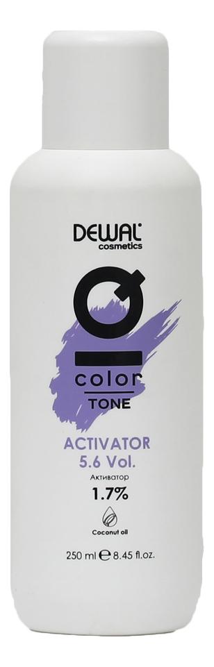 Активатор для волос с кокосовым маслом Cosmetics IQ Color Tone Activator 1,7%: Активатор 250мл кремовый окислитель с кокосовым маслом cosmetics iq color oxi 3% окислитель 1000мл