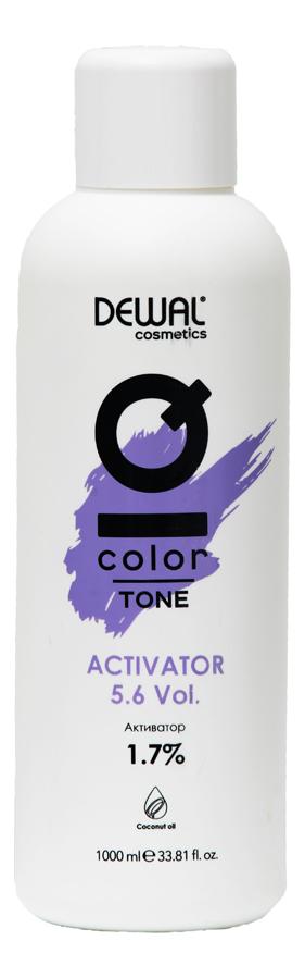 Активатор для волос с кокосовым маслом Cosmetics IQ Color Tone Activator 1,7%: Активатор 1000мл кремовый окислитель с кокосовым маслом cosmetics iq color oxi 3% окислитель 1000мл