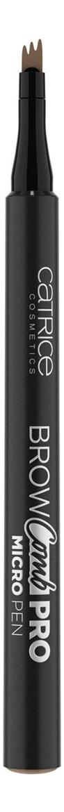 Контур для бровей Brow Comb Pro Micro Pen 1,1мл: 010 Ash Blonde catrice контур для бровей slim matic ultra precise brow pencil waterproof 4 тона 1 шт тон 010 light светло коричневый