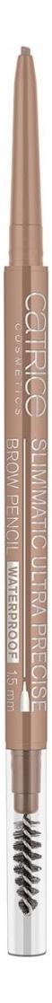 Карандаш для бровей Slim'Matic Ultra Precise Brow Pencil Waterproof 0,05г: 020 Medium catrice контур для бровей slim matic ultra precise brow pencil waterproof 4 тона 1 шт тон 010 light светло коричневый