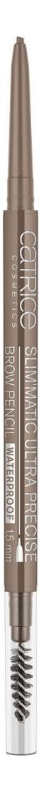 Карандаш для бровей Slim'Matic Ultra Precise Brow Pencil Waterproof 0,05г: 030 Dark catrice контур для бровей slim matic ultra precise brow pencil waterproof 4 тона 1 шт тон 010 light светло коричневый