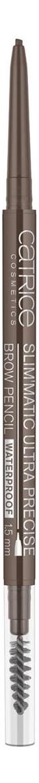 Карандаш для бровей Slim'Matic Ultra Precise Brow Pencil Waterproof 0,05г: 040 Cool Brown catrice контур для бровей slim matic ultra precise brow pencil waterproof 4 тона 1 шт тон 010 light светло коричневый