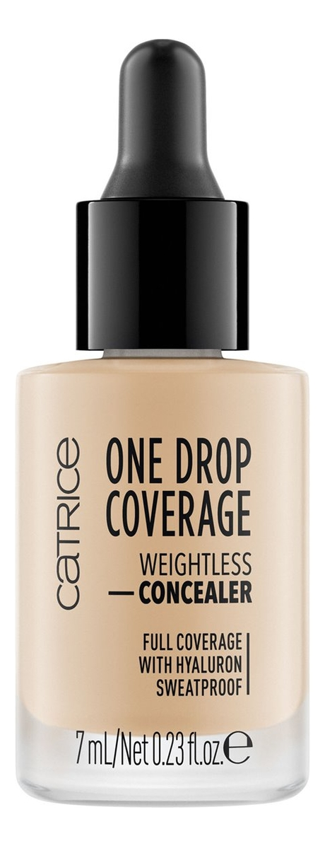 Консилер для лица One Drop Coverage Weightless Concealer 7мл: 020 Nude Beige консилер для лица hd liquid coverage precision concealer 2 5мл 020 rose beige