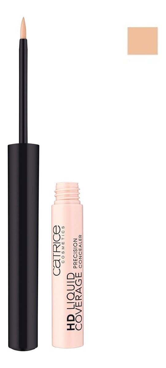 Консилер для лица HD Liquid Coverage Precision Concealer 2,5мл: 020 Rose Beige консилер для лица camouflage cream 3г 020 light beige